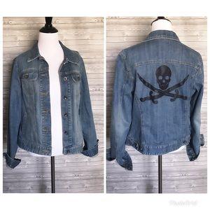 Skull & swords jean jacket